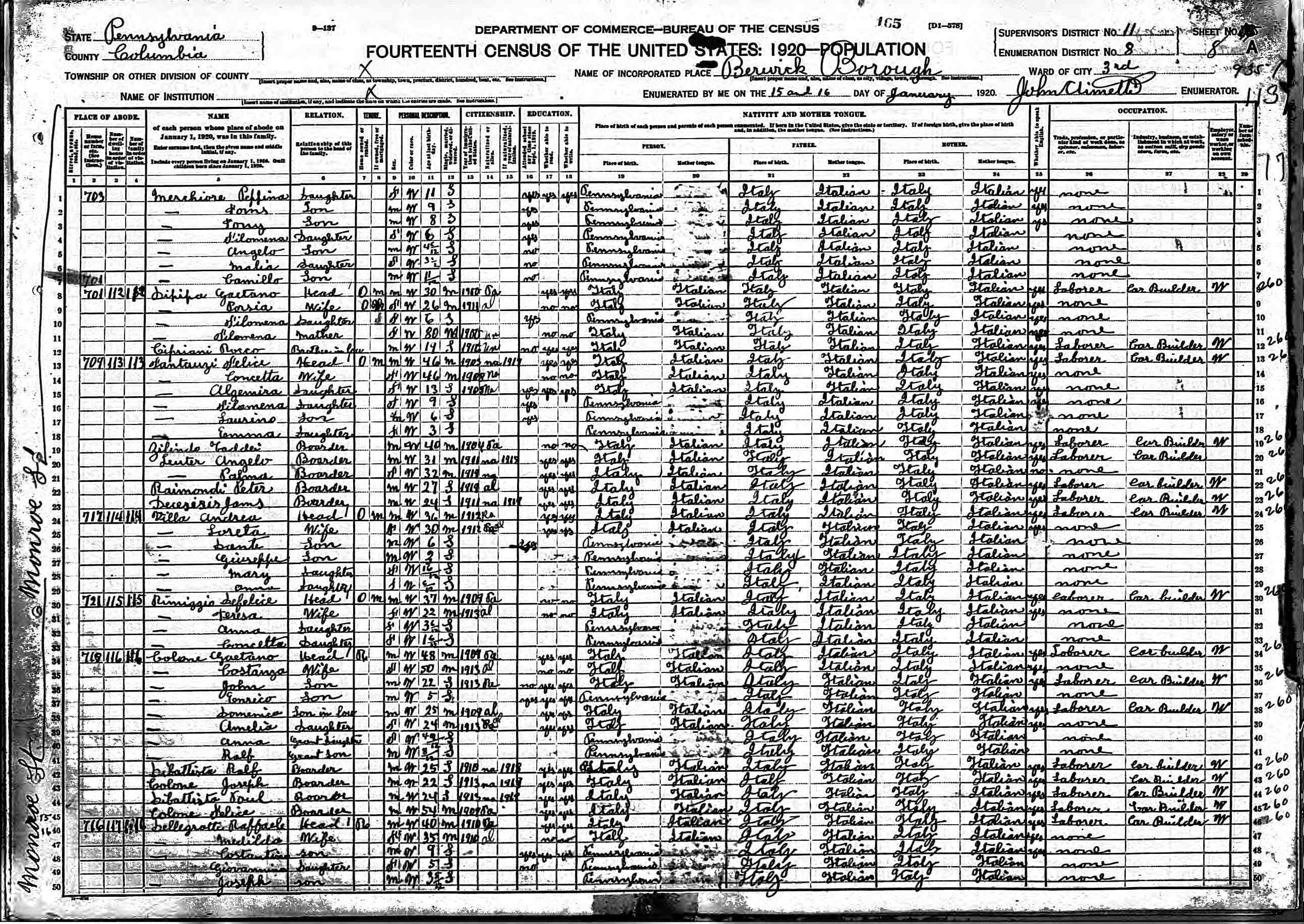 how to search genealogy in italy